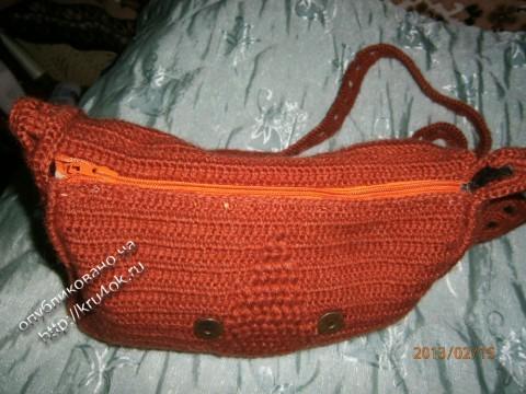 фото вязаной сумки из мохера