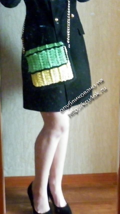 фото вязаной сумки