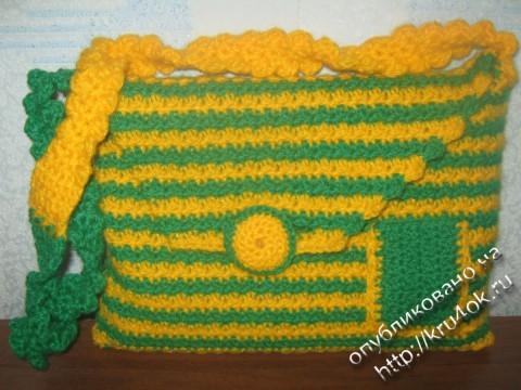 фото вязаной сумки для нетбука