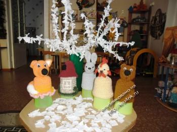 Вязаные игрушки - пальчиковый театр