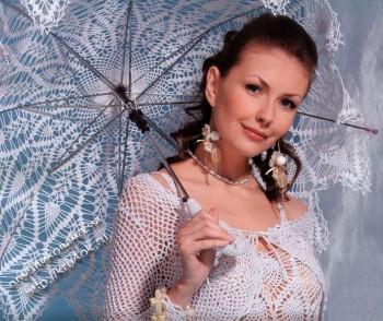 фото вязаного зонта