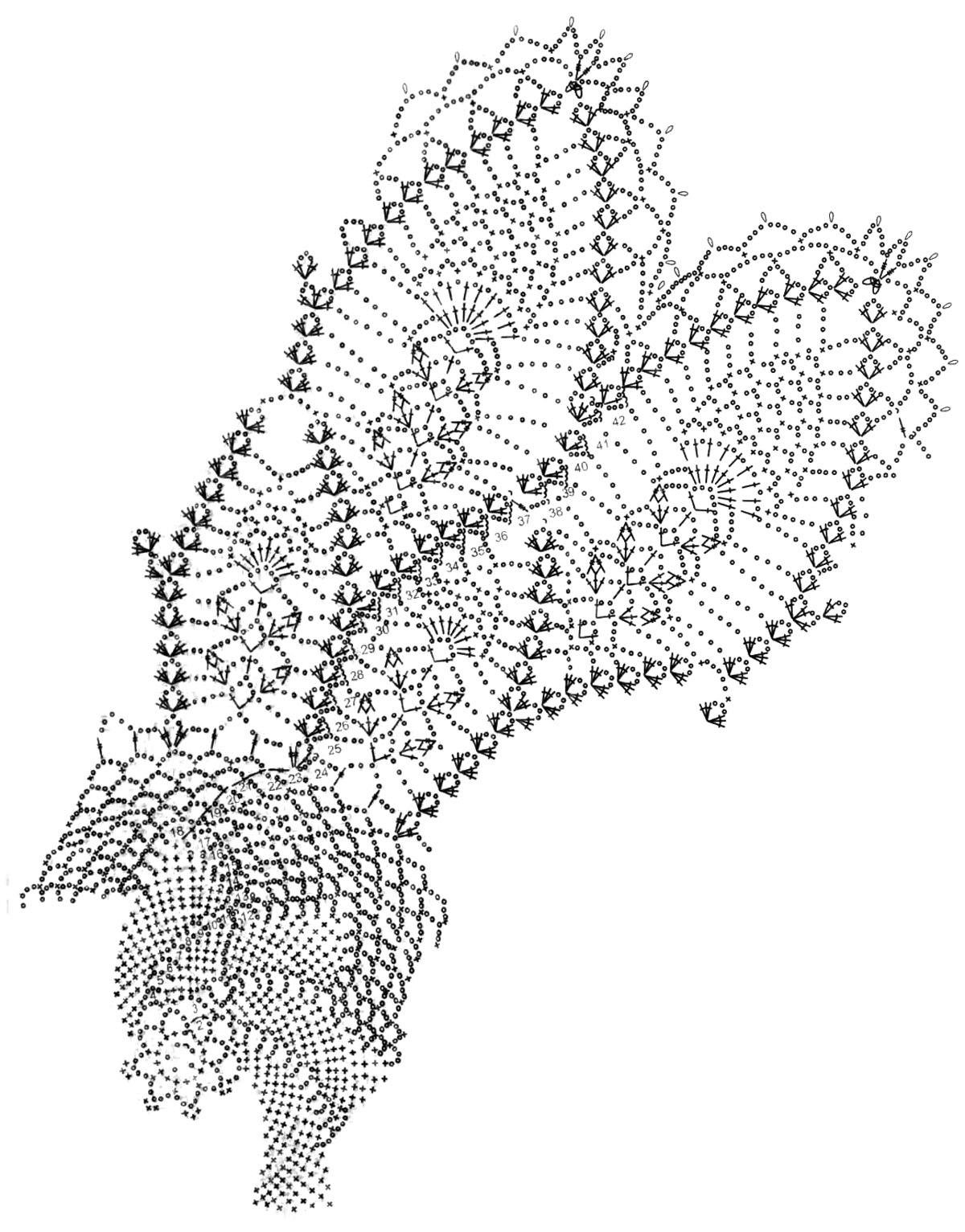 Схема вязаного голубя крючок