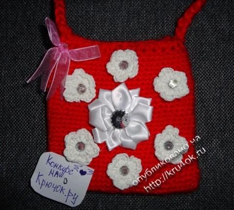 фото детской сумочки, связанной крючком