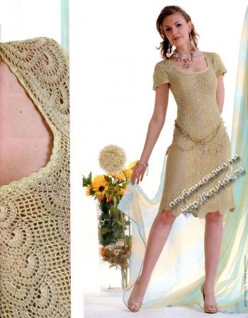 фото платья в технике ленточного кружева