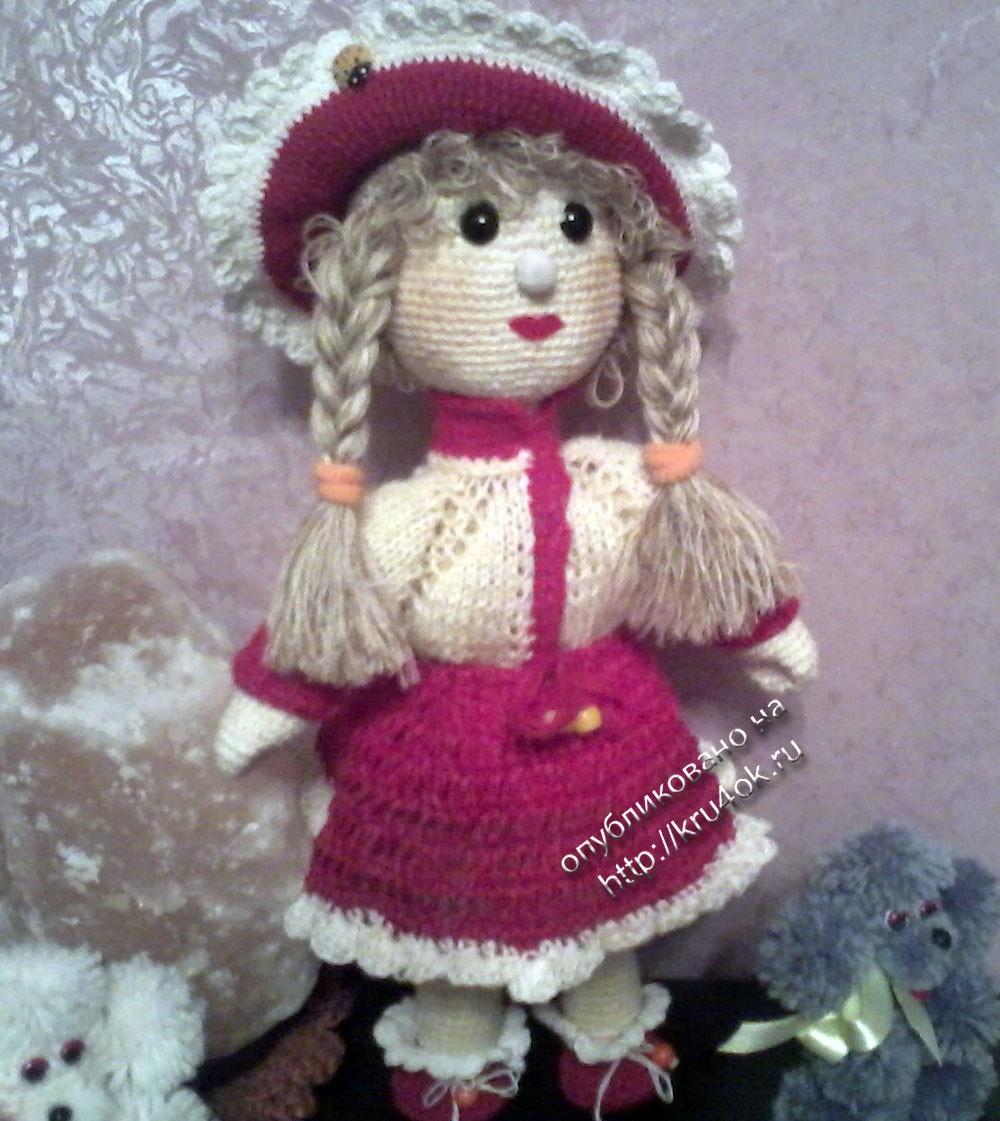 Фото вязаной крючком куклы
