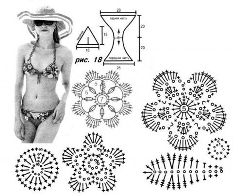 Схема купальника - бикини крючком