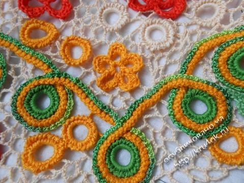 фото детского платья в техгнике ирландского кружева