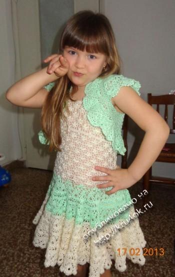 фото платья и болеро для девочки