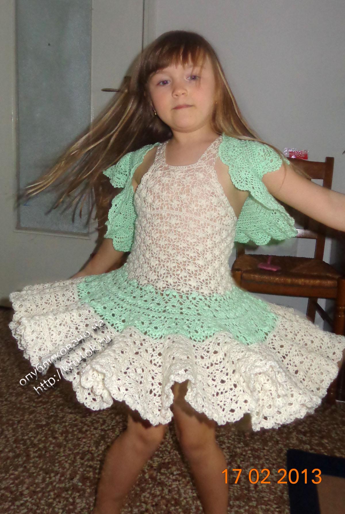 Болеро и платье для девочки