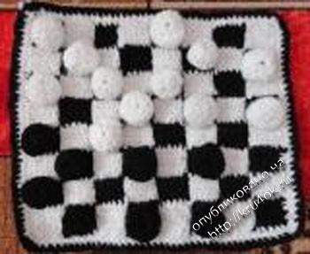 фото вязаных крючком шашек