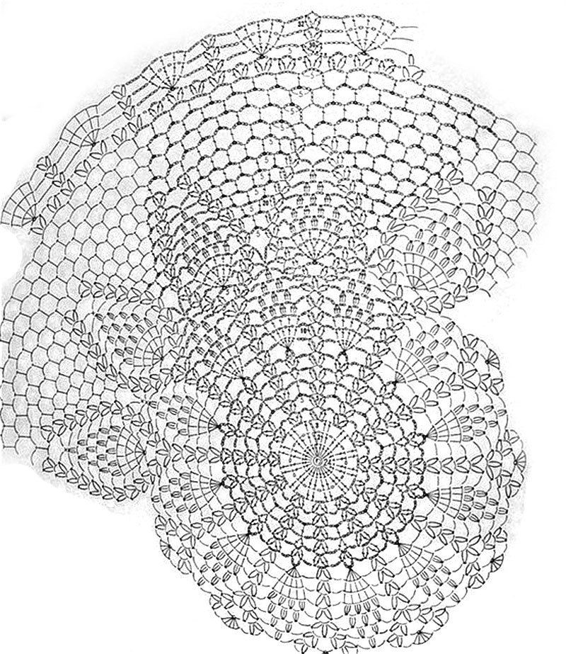 Схема вязания берета: