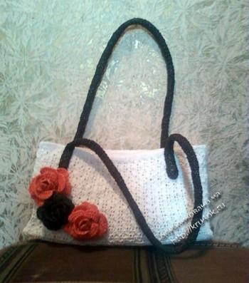 фото вязаной сумочки из пакетов