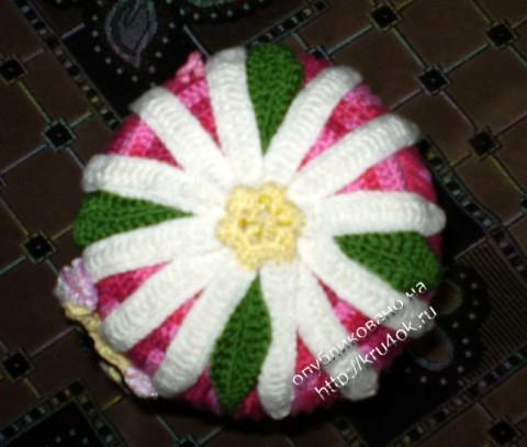 фото вязаной крючком шапочки