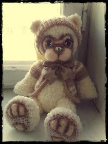 фото вязаного мишки