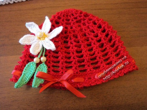 фото вязаной панамы