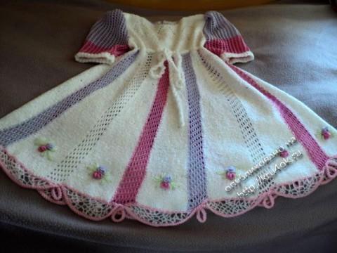 фото вязаного платья