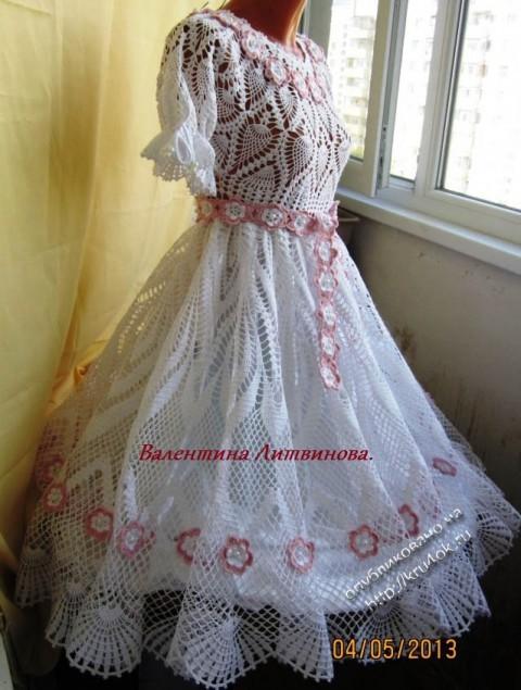 фото вяззаного крючком платья