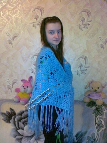 фото вязаной крючком шали