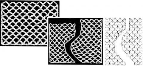 схема вязания регулярной сетки