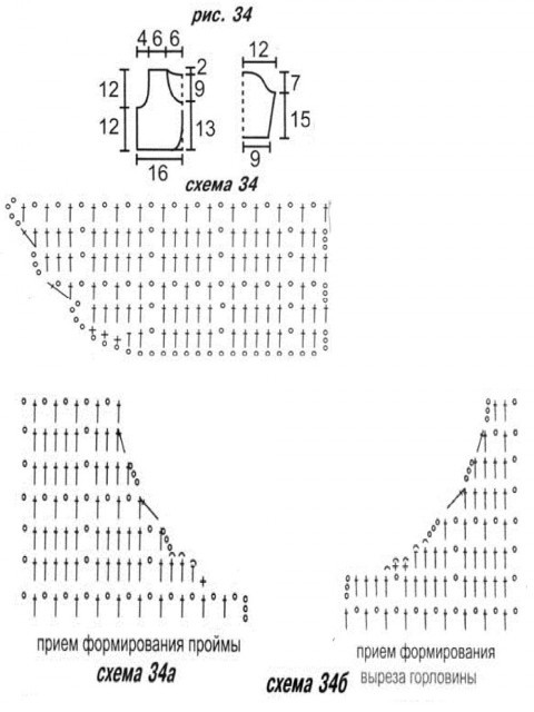 Схемы вязания болеро