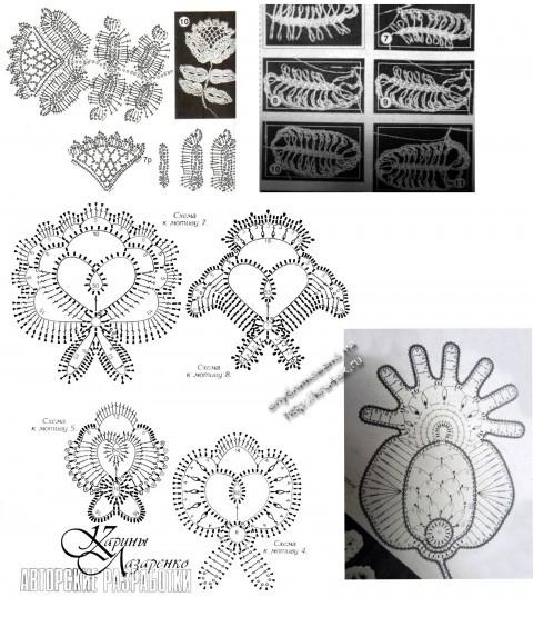 схемы вязания котфочки крючком