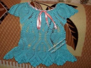 фото детского платья крючком
