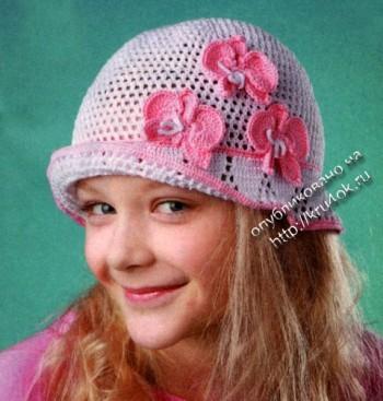фото вязаной шляпы для девочки