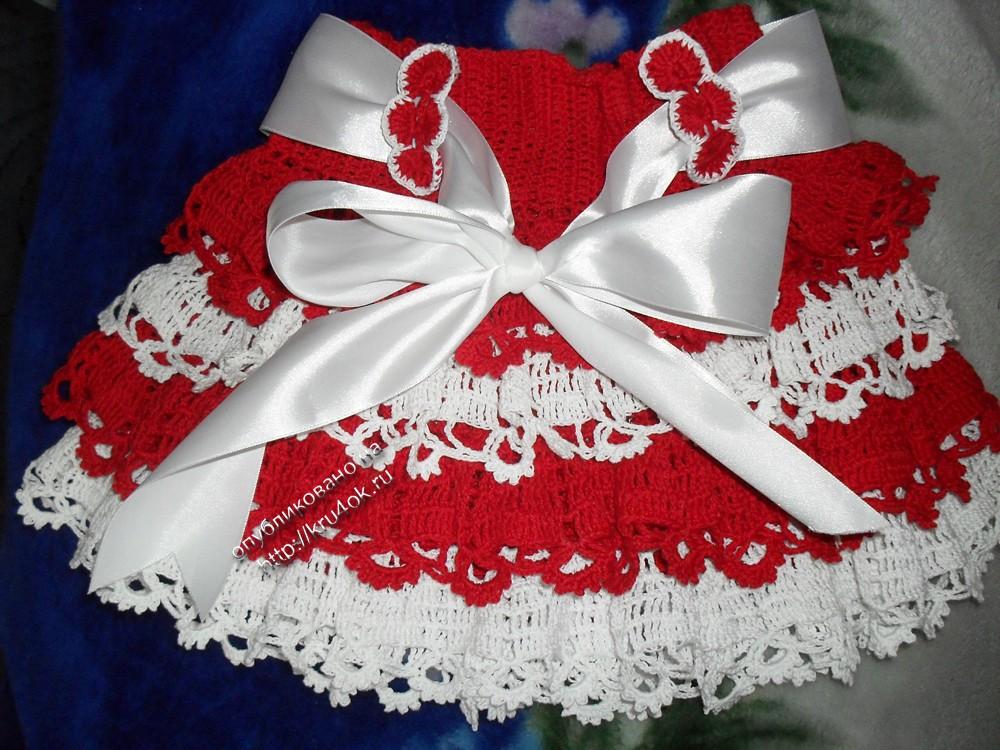 фото юбки крючком