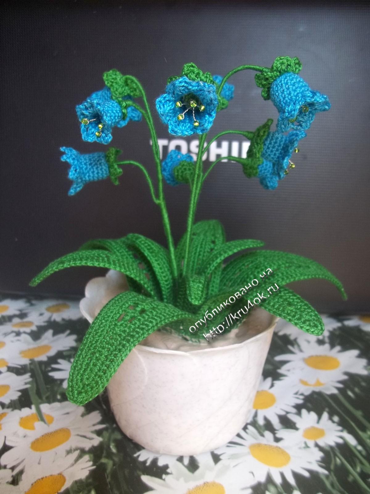Цветы крючком схема фиалки фото 961