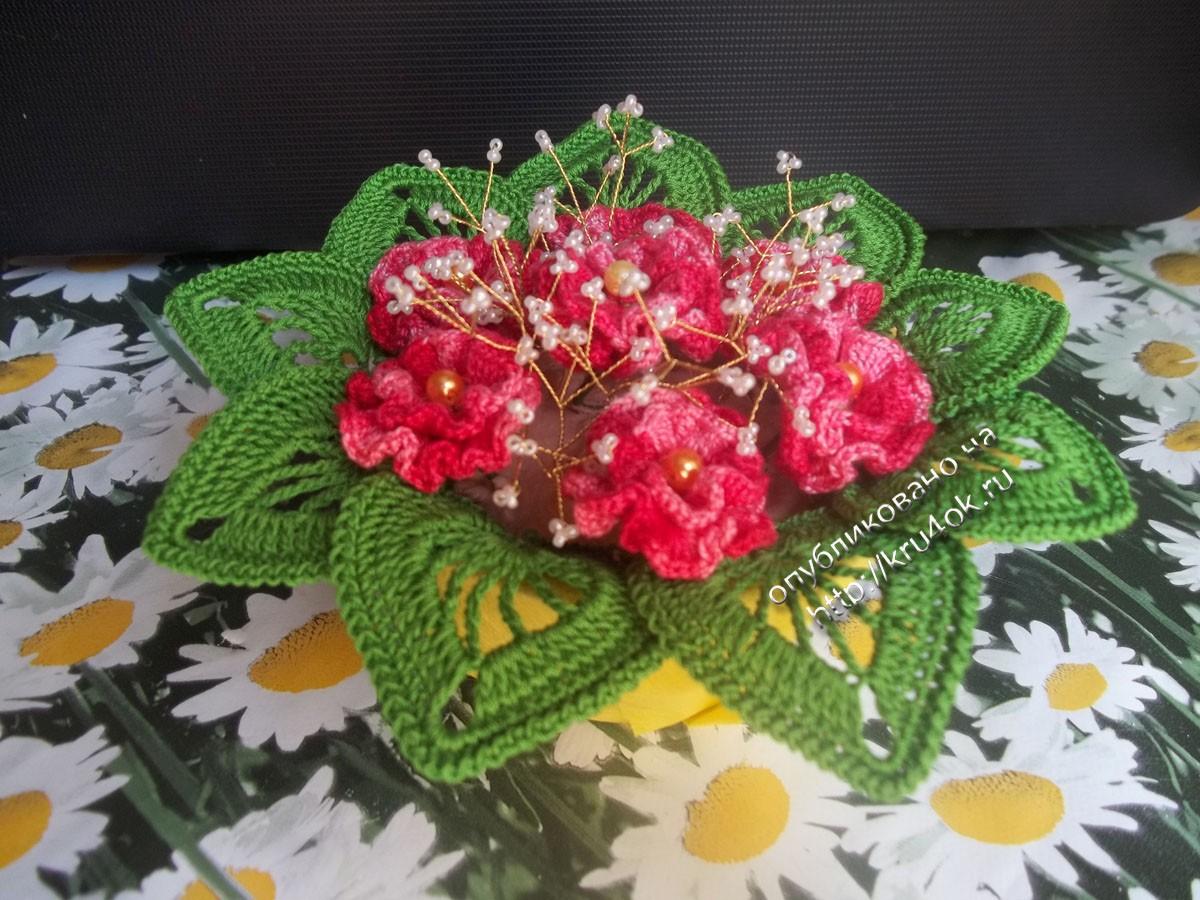 Вязаные крючком цветы — работы анны