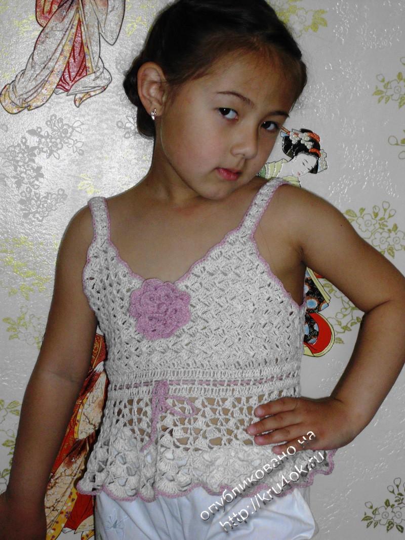 Вязание для девочки крючком топика