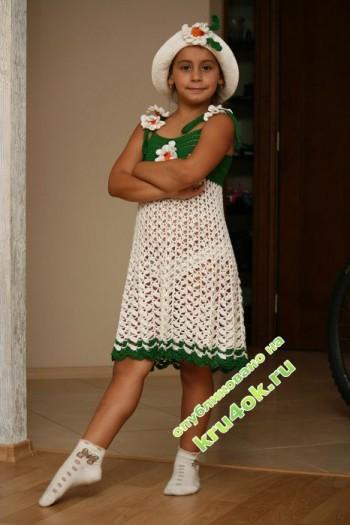 фото детского сарафана крючком