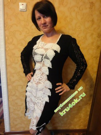 фото вязаного платья крючком