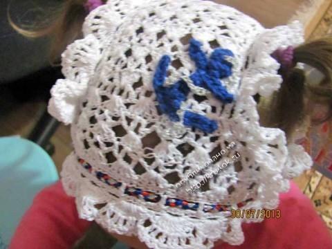 фото детской панамы крючком
