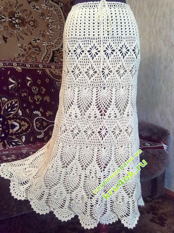 Схем вязания юбок крючком