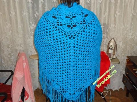 вязание шали крючком фото