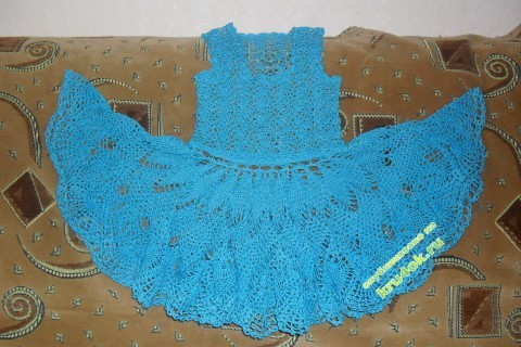 фото вязаного сарафана для девочки