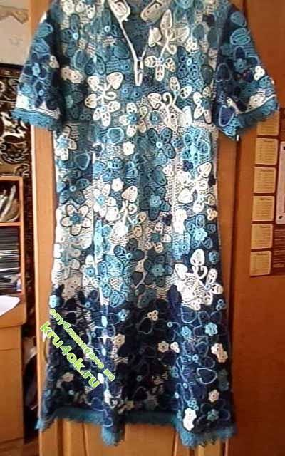 фото вязаного крючкоом платья