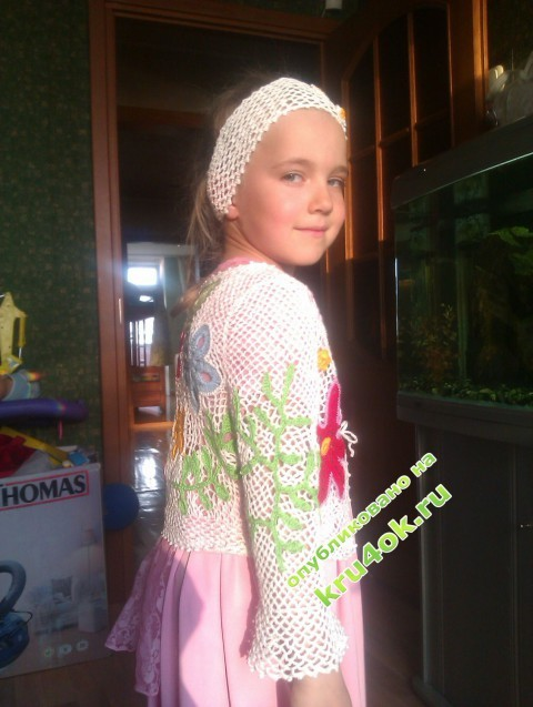 Детская кофточка крючком фото