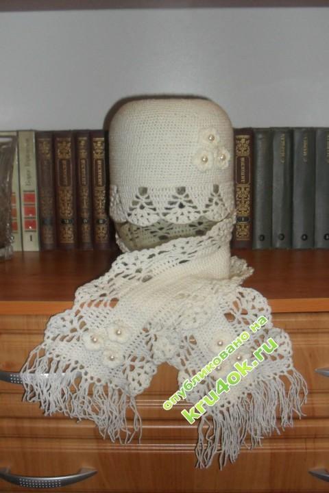 Шапочка и шарфик фото
