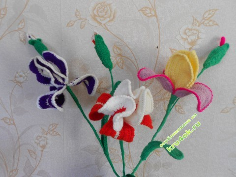 Вязаные цветы фото