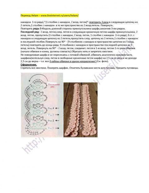 описание шарфа