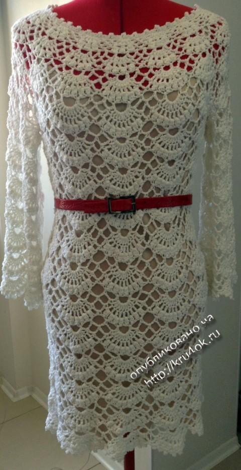 фото вязаного платья - туники