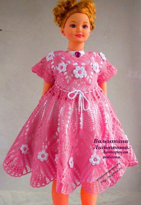 Платье для девочки - работа Валентины Литвиновой