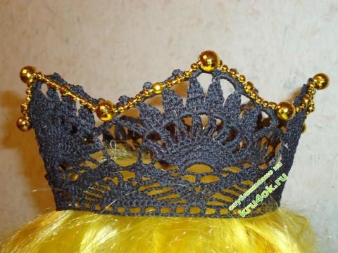 Вязаная корона крючком