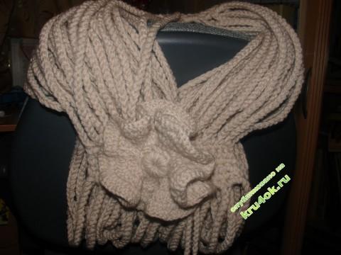 фото вязаного крючком снуда