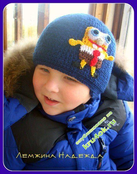 Вязаные шапочки для мальчиков фото