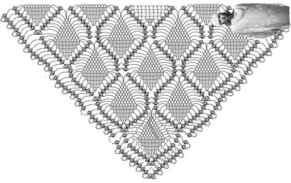 Схема вязания шали: http://