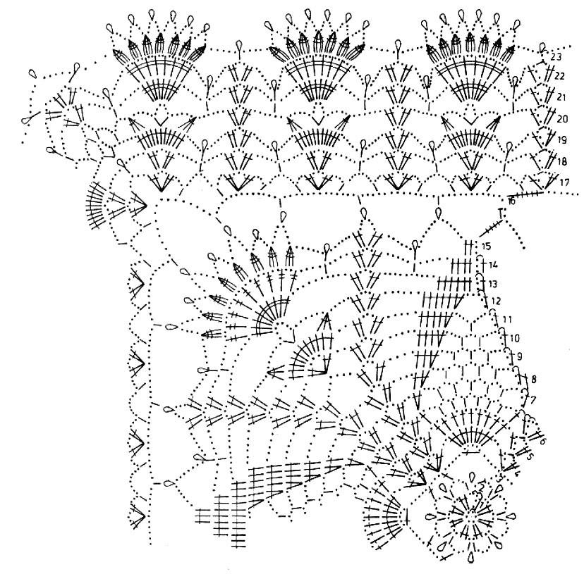 Мотор на Схема вязание 1000 узоров