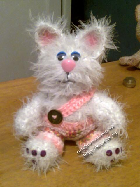 фото вязаного крючком котенка